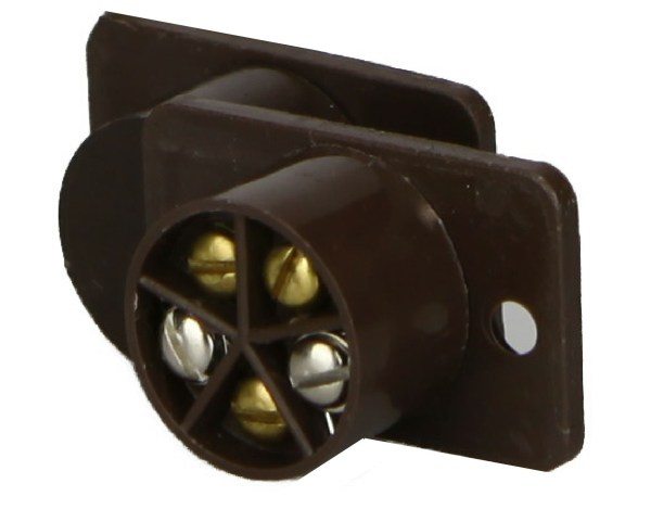 Burglar Alarm Magnetic Brown Flush Door Contact