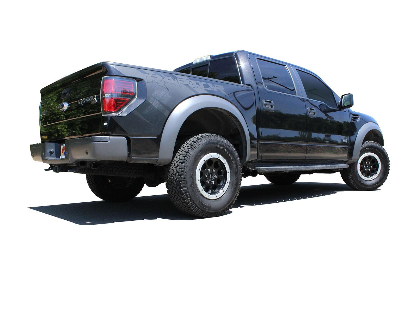 2010 2014 f150 6 2l raptor afe rebel series 3 409 stainless steel cat back exhaust system black tips 49 43071 b