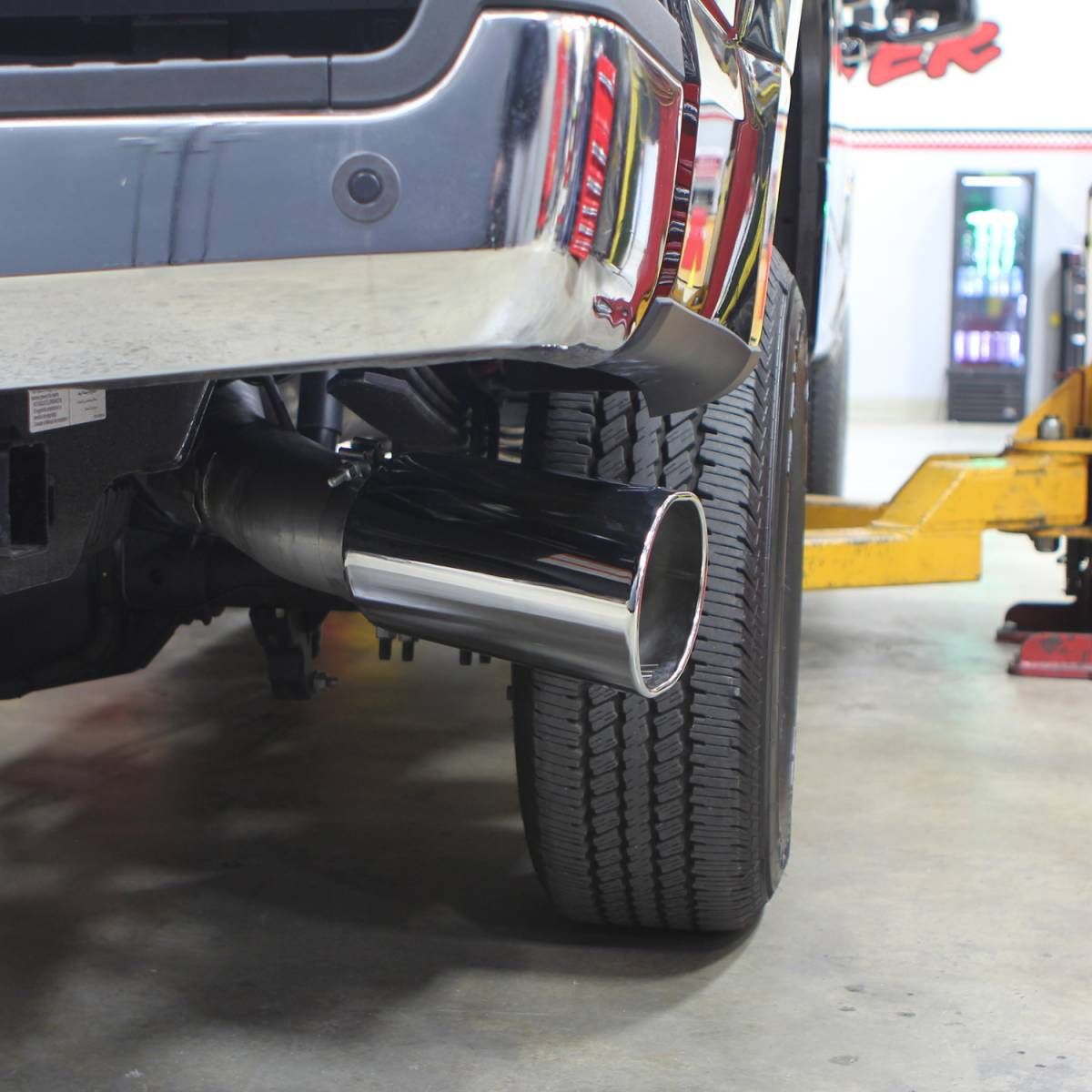 2017 2019 ford f250 f450 6 7l banks power monster exhaust system 5 inch single exit chrome tip 49795