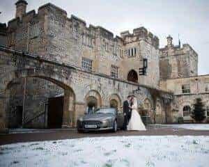 A White, White Wedding at Hazelwood Castle 2