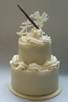 Ben Christopherson has created a special mini wedding cake for Selfridges