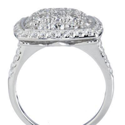 Diamonique 2.5ct tw Brilliant Cut Glitter Ring Sterling Silver