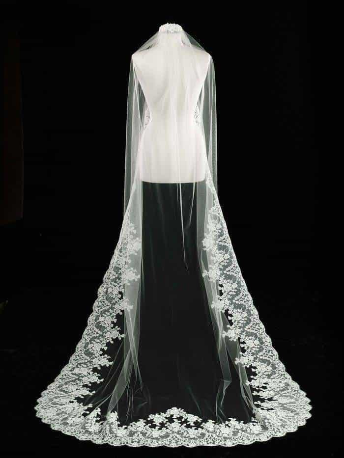 Long Lace Bridal Veil
