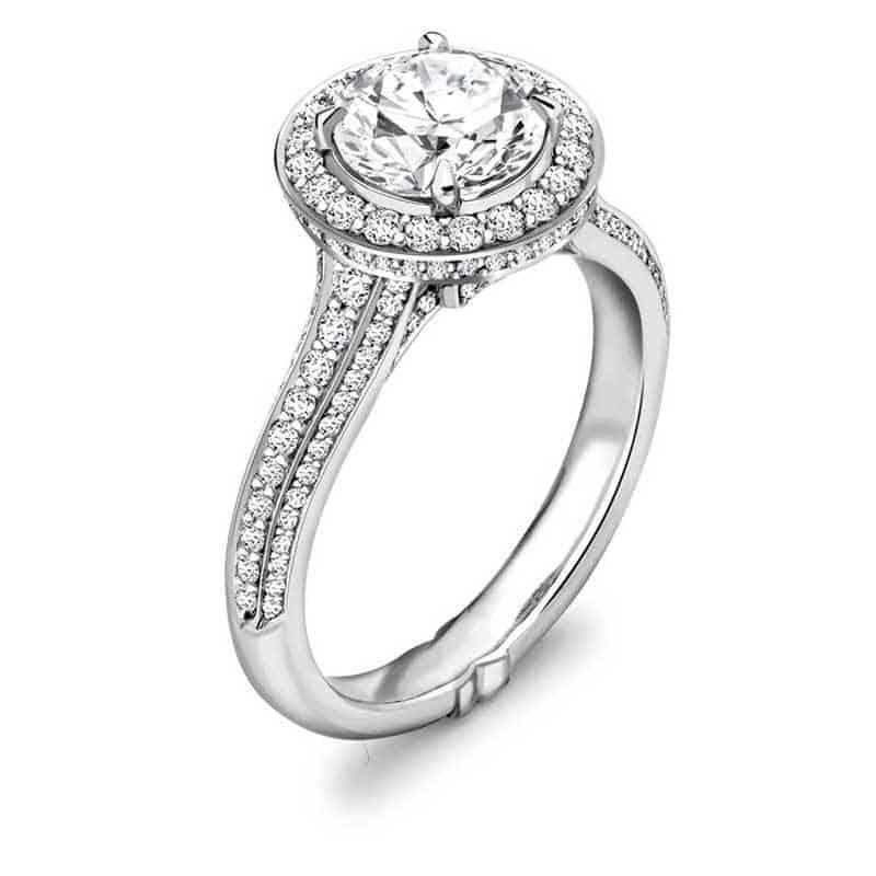 Vintage Round Brilliant Cut Diamond Ring