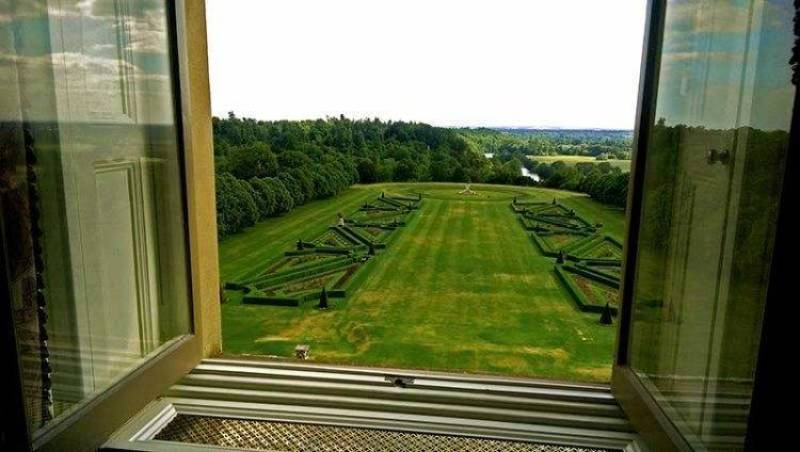 The spectacular parterre view from our window in the Blakeney Suite