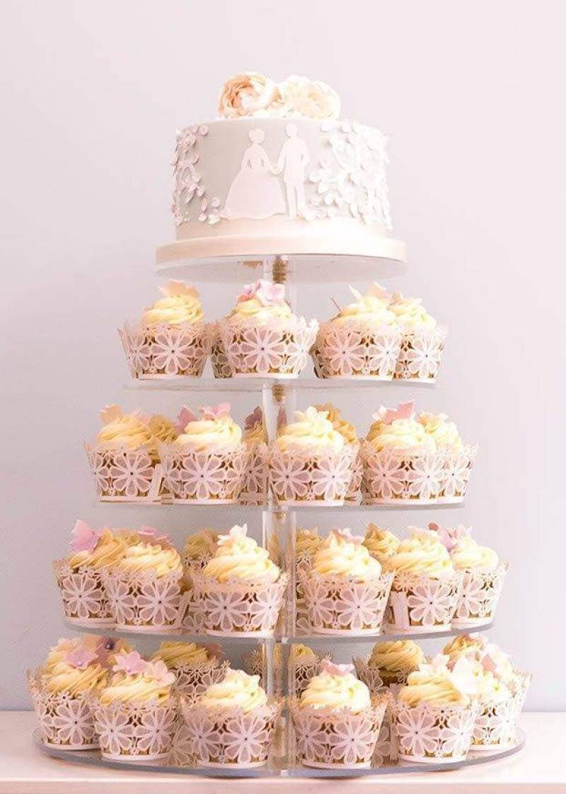 fairytale cupcake tower
