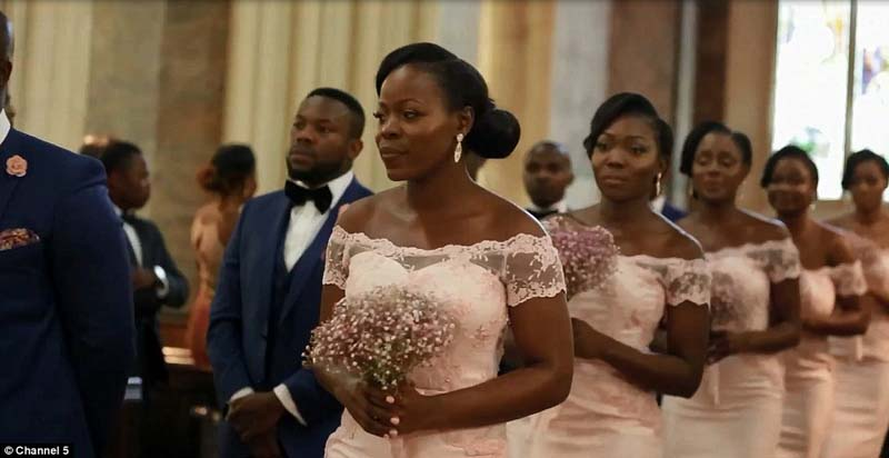 Beautiful bridesmaid gowns. Image Daily Mail