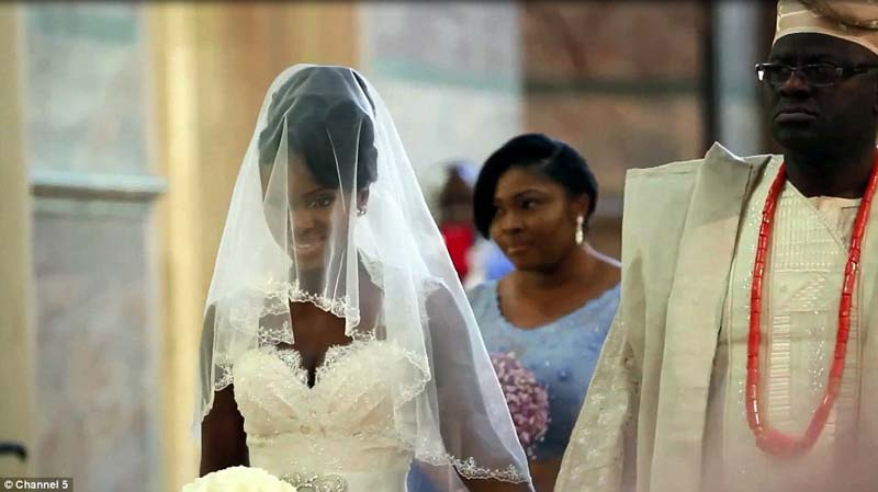 One of Nigeria's beautiful millionaire brides. Image Daily Mail