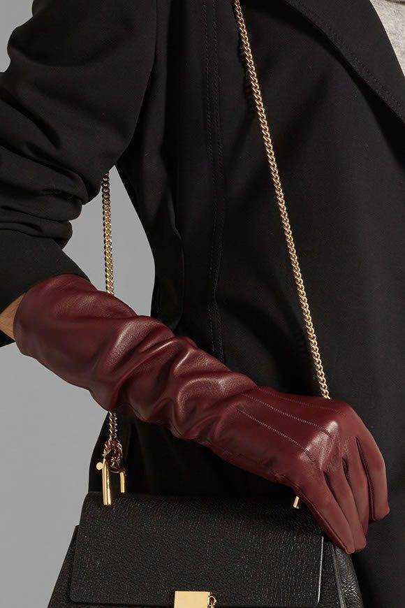luxurious leather gloves from Lanvin