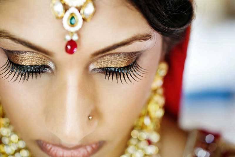 Indian Bride Eye Lashes