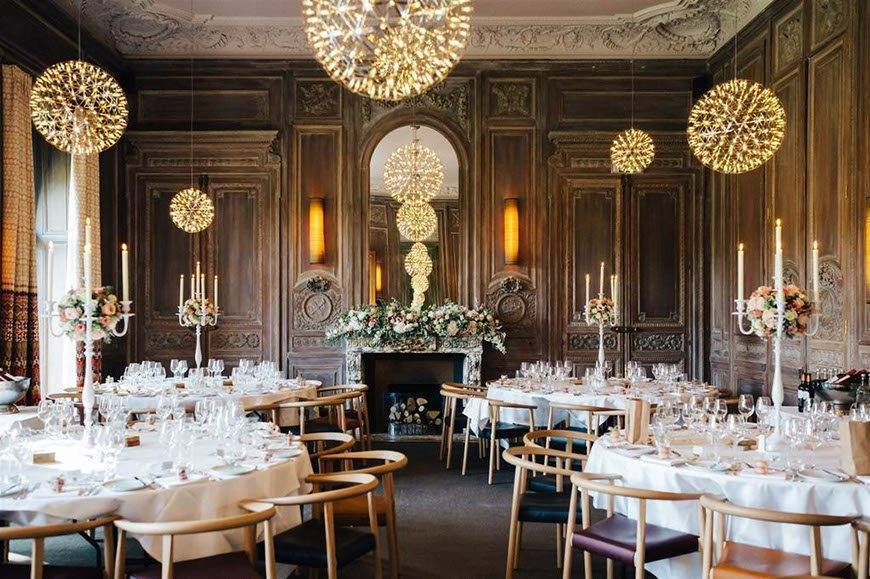 Wedding Set Up At Cowley Manor Cotswolds