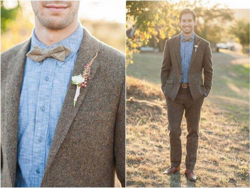 Textured Mens Wedding Suits