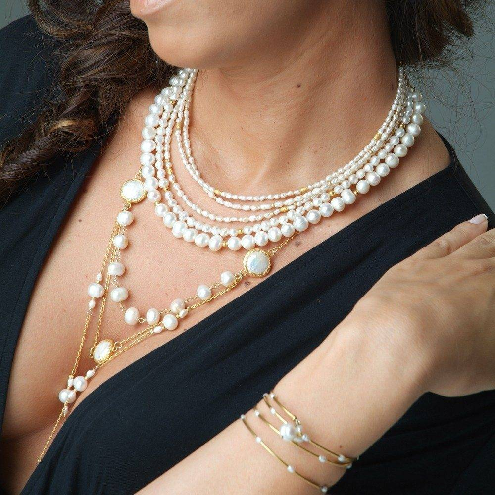 toosisjewelry-longgoldpearlmulti-layerednecklace