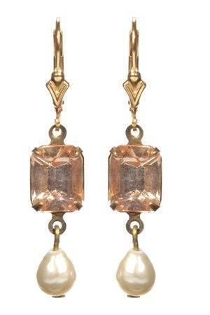 peach-georgian-rhinestone-earrings