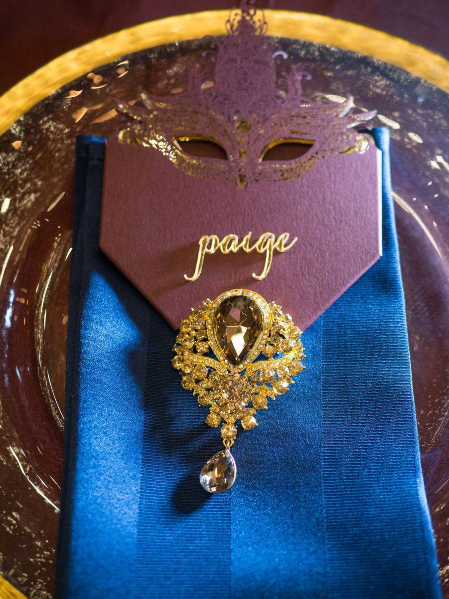 Regal colours and jewels add that special something