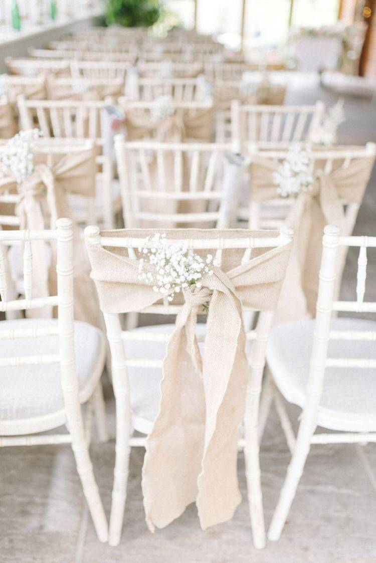 These chair wraps are so simple and understated - but add so much to the decor.