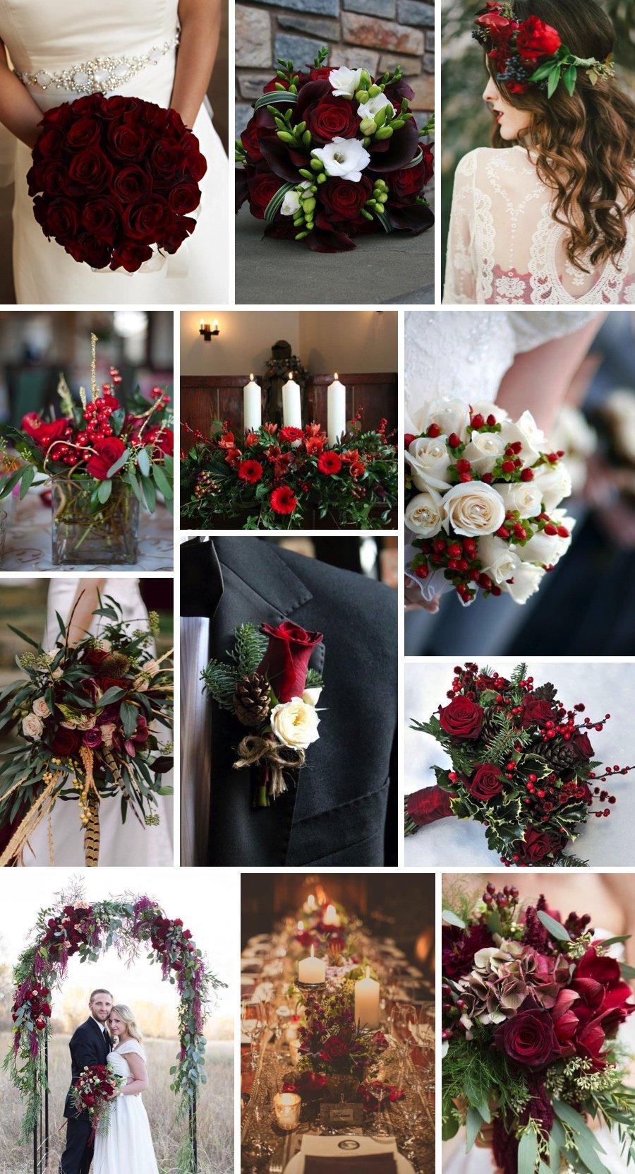 Amazing Winter Wedding Flowers