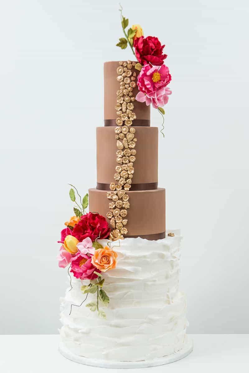 textured cake chocolate ruffle cake elizabethscakeemporium 1