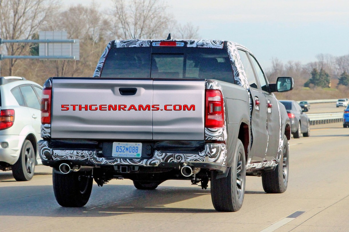 Caught 2020 Ram 1500 With New Tailgate Design 5th Gen Rams