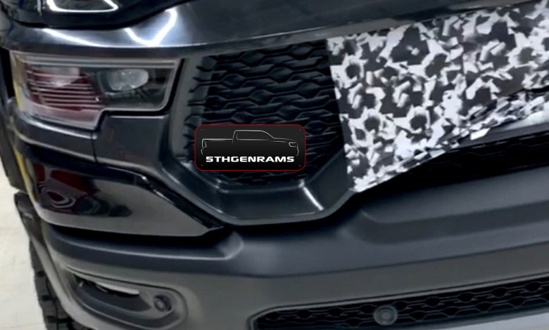 Photo of CAUGHT: Our First Look At The Face Of The New 2021 Ram 1500 TRX:
