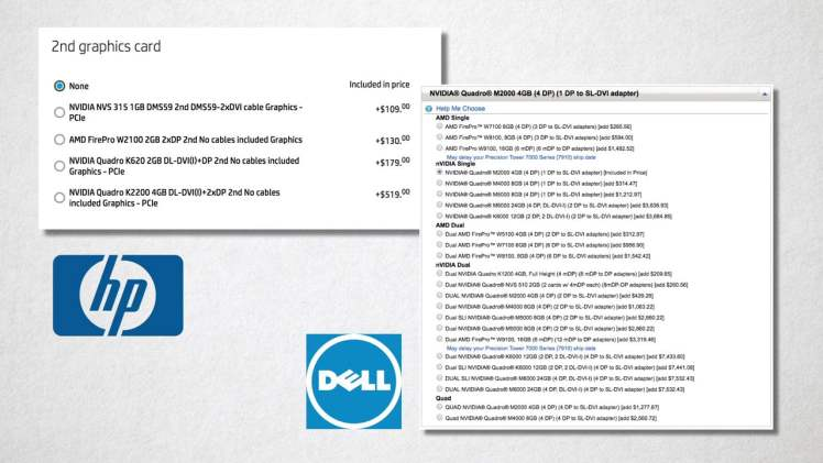 Have it your way: GPU options with HP and Dell.