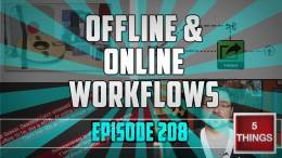 5 THINGS: on Offline / Online Workflows