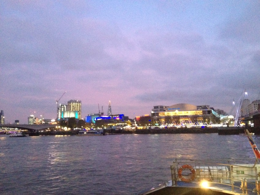 Travelling by boat to London's O2 by boat