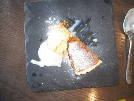 Warm Treacle Tart, Clotted Cream Ice Cream