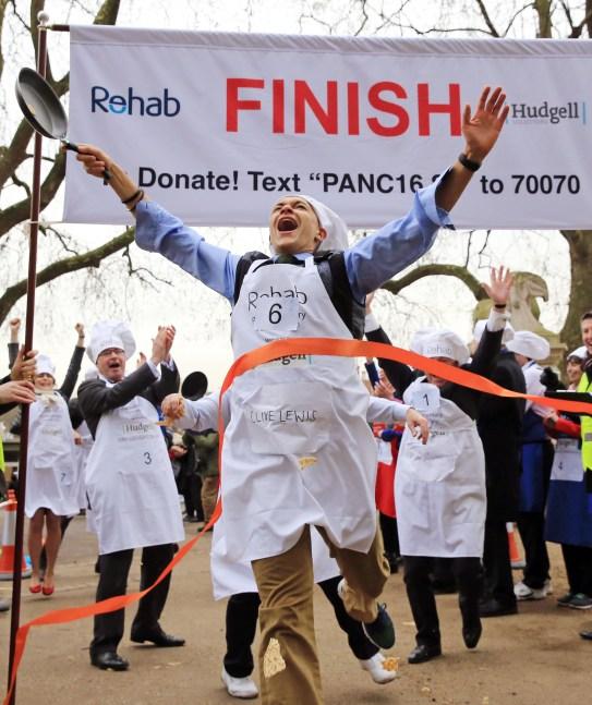 Rehab Parliamentary Pancake Race at Victoria Tower Gardens, London, Britain - 09 Feb 2016