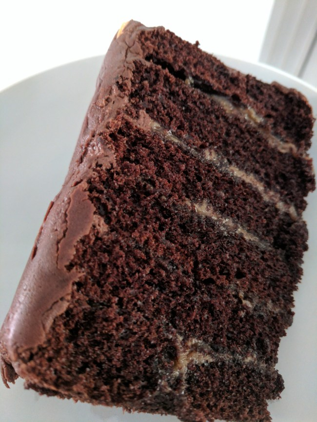 Take away a cake from The Hummingbird Bakery. This layered salted caramel chocolate branch is from the Richmond-upon-Thames branch