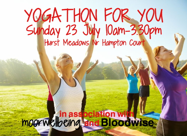 We are delighted to present 'Yogathon for You' open air summer yoga event - July 23