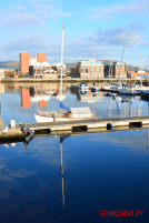 Boat reflection Belfast