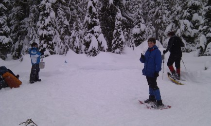 Stompin' the snow is far more efficient with snowshoes!