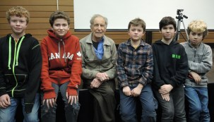 Tthe Mouuntaineer Scouts get to meet a legendary mountaineer! Fred explained during his presentation that he was first exposed to mountains as a Boy Scout. He would have been a member some time during the 1930s.