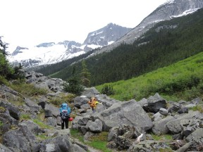 Most of the participants in the 2013 Mountaineering Camp had extensive experience with canoe camping but no experience backpacking high up into the mountains.