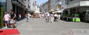 Trier Fussgaengerzone, Fleischstrasse, Innenstadt, Fotografin: Anna Lena Bauer - 5VIER