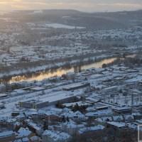 Selbst kurz vor dem Frühlingsanfang ist Trier noch von der weißen Pracht umgeben. Foto: Anna Lena Grasmück - 5VIER