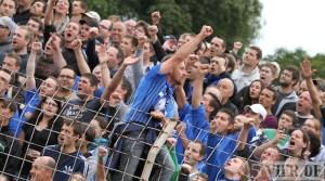 20110730 Eintracht Trier - St. Pauli, DFB Pokal, Jubel Fans,  Foto: Anna Lena Bauer - 5VIER