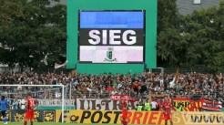 20110730 Eintracht Trier - St. Pauli, DFB Pokal, Sieg, Videowall, Anzeigentafel, Foto: Anna Lena Bauer - 5VIER