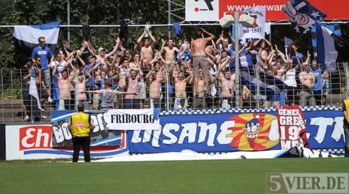 20120804 SC Freiburg II - Eintracht Trier, Regionalliga Südwest, Fans, Foto: Anna Lena Grasmueck - 5VIER