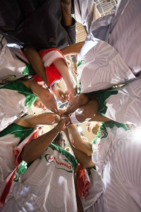 Teamwork: Zehn von zehn Spielern punkteten. Foto: Thewalt