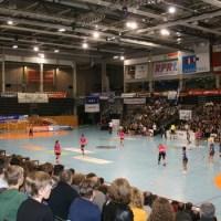 Die Arena Trier wird heute zum vorerst letzten Mal Bundesliga-Handball sehen. Foto: Stephen Weber - 5VIER