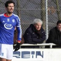 Mehrings Spielertrainer Dino Toppmöller fehlte weiterhin verletztungsbedingt. Foto: Sebastian Schwarz - 5VIER