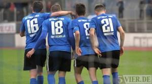 20130423 Eintracht Trier - FC Homburg, Jubel, Regionalliga Suedwest, Foto: www.5vier.de - 5VIER
