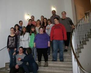 Die Kinder der Levana-Schule und ihre Gruppenleiter