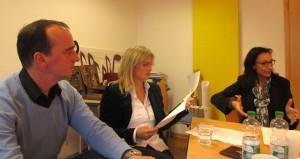 Poth, Kaltenkirchen und Zock bei der Pressekonferenz