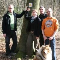 Liane Jordan vom Deutschen Wanderverband und ihr Team, v.l.: Rolf Spittler, Liane Jordan, Dirk Zimmermann, Manuel Prasuhn - 5VIER