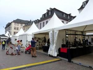 feierliches Ambiente auf dem Trierer Ostermarkt, Foto: Marie Baum