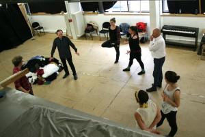 Bühne 1 bei Schauspielübungen mit Klaus-Michael Nix