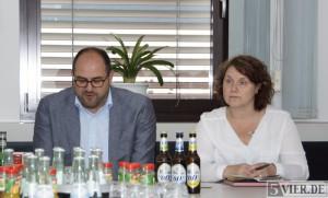 ttm Geschäftsführer Thomas Egger und Festorganisatorin Lissy Backes. Foto: Lars Eggers